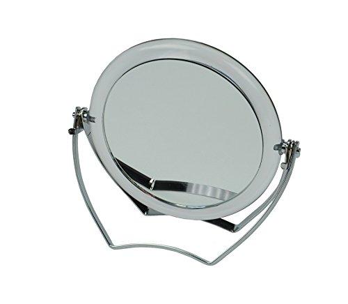 Fantasia Reisspiegel acryl met metalen beugel, make-up spiegel inklapbaar met 15-voudige vergroting, Ø 10 cm, hoogte 12 cm