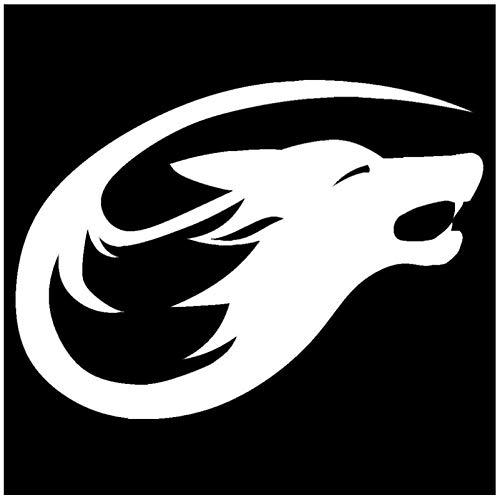 Autosticker, tribal wolf kop, vinyl, doe-het-zelfklever voor ramen, auto, laptop, koffer, skateboard, sticker, 20 x 14 cm (5 stuks)