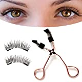 Hedear Pestañas Postizas Multipack, Pestañas Postizas 3D Pestañas Postizas Gruesas Naturales Extensión De Maquillaje Pestañas Postizas Magnéticas Suaves para Mujeres
