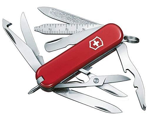 Victorinox Taschenmesser Mini Champ (18 Funktionen, Schere, orangenschäler) rot