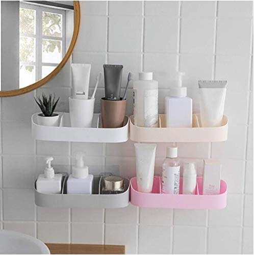 Best Prices! Shelf Plastic Wall-Mounted Bathroom Kitchen Storage Shower Storage Box Clean and Tidy S...