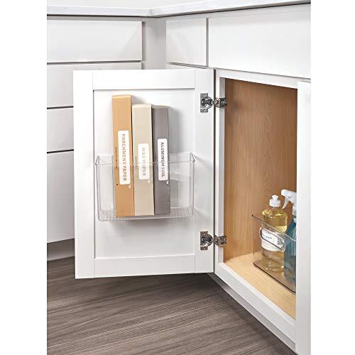 "iDesign AFFIXX Plastic Wall Mount Organizer Rack, Shelf for Kitchen, Bathroom, Office, Bedroom, Craft Room, 3.5"" x 11"" x 6.5"", Clear"