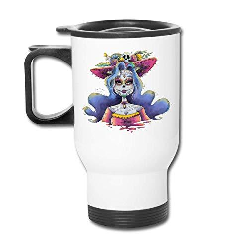 Day Of The Dead La Calavera Catrina Republican Vaso - Vaso con doble aislamiento - Taza de café de 30 oz para automóvil, viajes, trabajo
