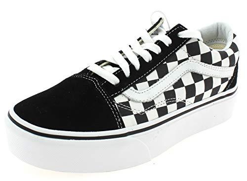 Vans Damen Ua Old Skool Platform Low-Top Sneaker, Schwarz, 42 EU