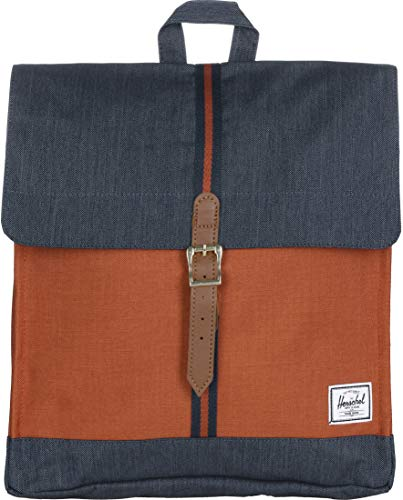 Herschel Supply Co. City Mid-Volume Indigo Denim/Picante Crosshatch/Tan One Size