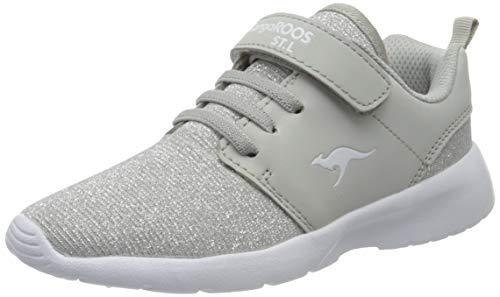 KangaROOS Hinu EV, Unisex-Kinder Sneakers, Mehrfarbig (Silver Metallic 9044), 37 EU