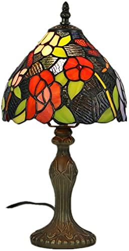 HKAFD Lámparas de tontería de Estilo Tiffany, lámpara de Mesa de Vidrio de pétalo, lámpara de Mesa de Mesa, Base de aleación de Zinc para Sala de Estar y iluminación de Dormitorio Regalos