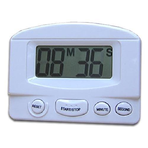 skyllc® Reloj Digital, Minute Second Countdown Temporizador de Cocina, Big Dígitos, Alarma Fuerte, Montaje Magnético con Clip, Blanco