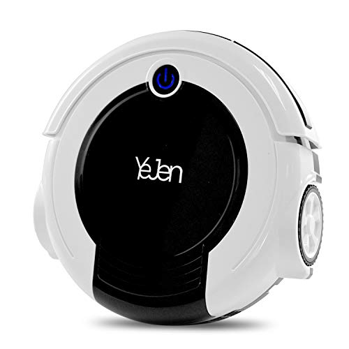 YEJEN Robotic Cleaner with Vacuum and Sweeper, Cliff Sensor Technology, for Hard Floor Mopping, Low-Pile Carpet Sweep Function and HEPA Filter, Allergies Friendly
