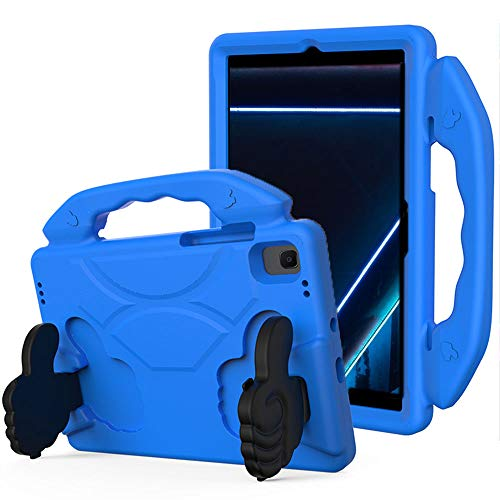 SDTEK Case Compatible with Samsung Galaxy Tab A7 (2020) 10.4 with built in Stand - Strong Rugged Tablet Cover with Carrying Handle Child Friendly (Blue)