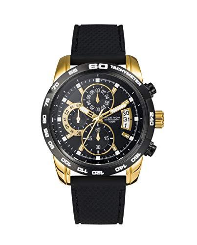 Viceroy Heat - Reloj para Hombre Cronógrafo Bicolor Dorado Correa Caucho 40421-29