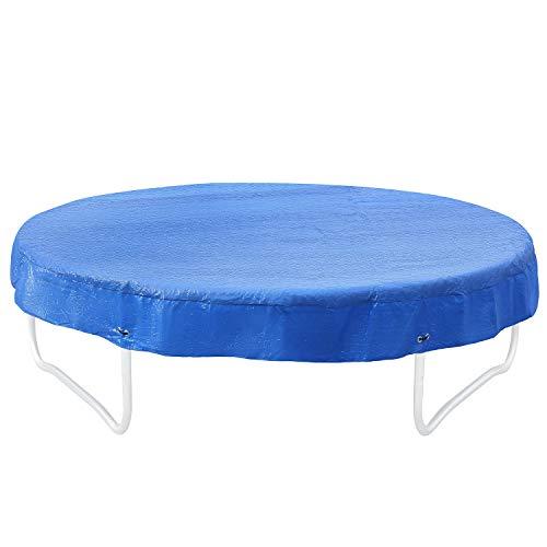 Femor Funda Protectora para Cama Elástica Ø244/305/366 cm, Cubierta de Protección Impermeable para Trampolín Redondo, Resistente a los Rayos UV, AzulØ305 cm
