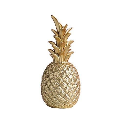 Surkay Deko Ananas Gold, Harz Ananas Modell Ornament,Moderne Handwerk Dekoration Wohnzimmer Weinschrank Schlafzimmer Zimmer Dekorationen Büro Dekoration
