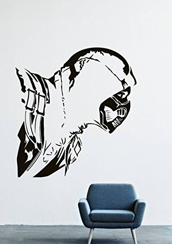 Wall Decals Decor Viny Scorpio Mortal Kombat Frost Fighter Warrior Costume Mask LM0066