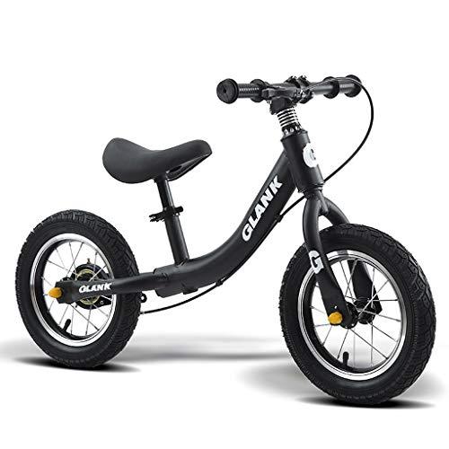 Bicicleta Sin Pedales Ultraligero De La Bici De 12 Pulgadas Balanza For 2-6 Años Niño Niña, Marco De Acero Al Carbono Con Freno, Sin Pedal De Bicicleta De Entrenamiento Ruta Equilibrio De Bicicletas F
