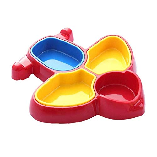 WOHAO Fête des Enfants de la Vaisselle Avion en Forme de bébé en santé Vaisselle, stéréoscopiques Cartoon Forme détachables Vaisselle bébé Diviseur Boîte à Lunch Set Vaisselle