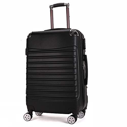 Trolley-koffer met ritssluiting 20 inch reis-bagagehoek kinderwagen,  Blanco Y Gris (zwart) - errhf656566105