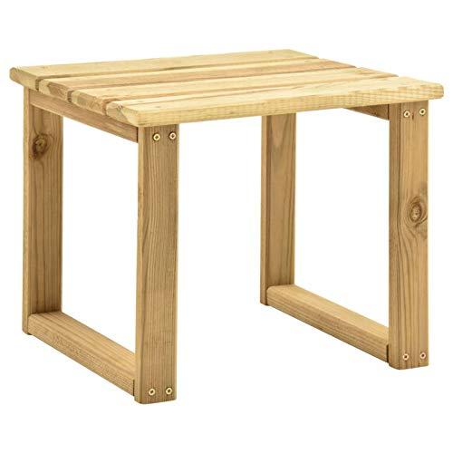 Tidyard Tisch für Sonnenliege Holztisch Beistelltisch Teetisch Kaffeetisch Gartentisch Balkontisch Teaktisch Terrassetisch Gartenmöbel Terrassenmöbel 30x30x26 cm Imprägniertes Kiefernholz