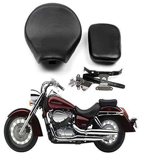 Bruce & Shark Sitzbanke Motorradsitz Sitz aus Kunstleder vorne hinten Sitzkissen Passend für Hon-da Shadow Aero Vt750C 2004-2013