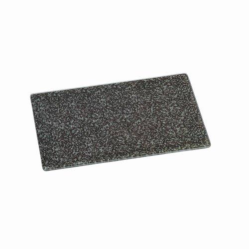 2 Stück Kesper Schneidebrett, Küchenplatte, Sicherheitsglas, Glas-Schneideplatte, Motiv: Granit Größe: L, gehärtet, Maße: ca. 300 x 200 x 7 mm