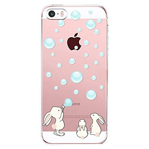 Oihxse ersatz für iPhone SE Hülle,iPhone 5 5S weich Transparente Silikon Handyhülle Ultra Dünn für Mädchen Anti-Verformung TPU Clear Cover Kaktus-Muster iPhone SE/5/5S-Donuts