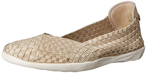 Bernie Mev Women's Braided Catwalk Light Gold Flats - 8.5 B(M) US
