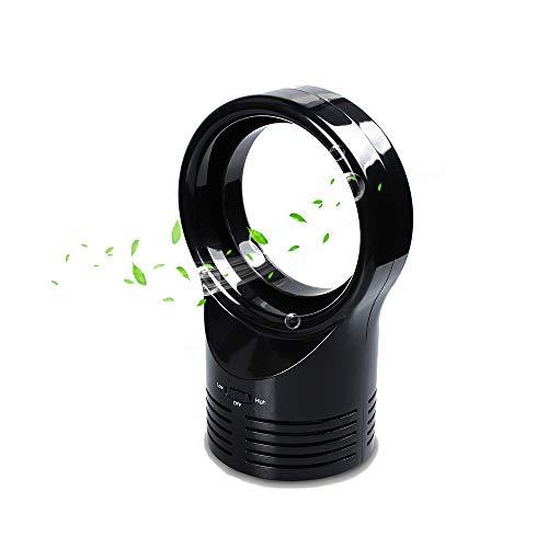 YMMONLIA Ventilateur Silencieux sans Feuilles, Mini économie D'énergie électrique Portative à Faible Bruit De Fan Portatif De...