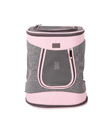 LXYUCWB huisdier rugzak outdoor rugzak hond rugzak kat rugzak reistas 35x30x41cm roze