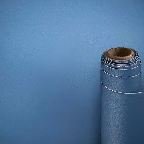 Papel Adhesivo para Muebles Azul Mate/Simplicidad/Muebles Pegatinas Impermeable a Prueba de Aceite para el Forro de los Muebles/Armario Mesa Baño Cocina Decoración 500x60cm