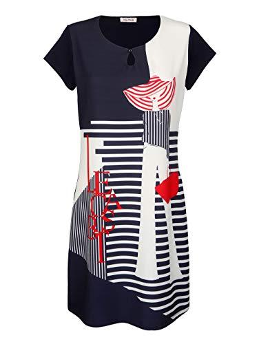 Alba Moda Kleid in trageangenehmer elastischer Jerseyqualität Marineblau