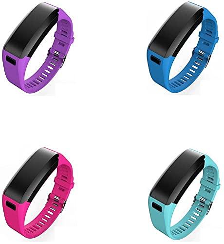 Classicase Cinturino per Orologio compatibile con Garmin Vivosmart HR, Cinturino in Silicone Morbido per Orologi (4-Pack J)