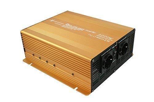 Wechselrichter - Spannungswandler 12V 300 bis 3000 Watt reiner SINUS mit echtem Power USB 2.1A Gold Edition … (2000-4000 Watt)