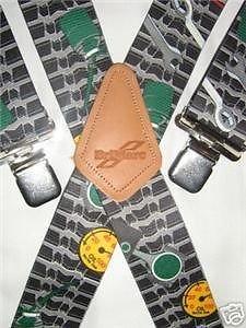 Brimarc Bretelles pour homme unies design ultra résistant motifs de clés mécaniques gris clair largeur 50 mm