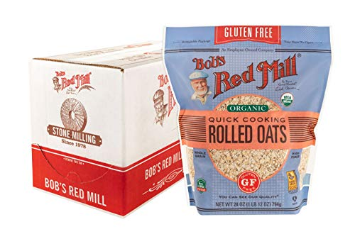 Bob's Red Mill Gluten Free Organic Quick Cooking Oats, 28-ounce (Pack of 4)