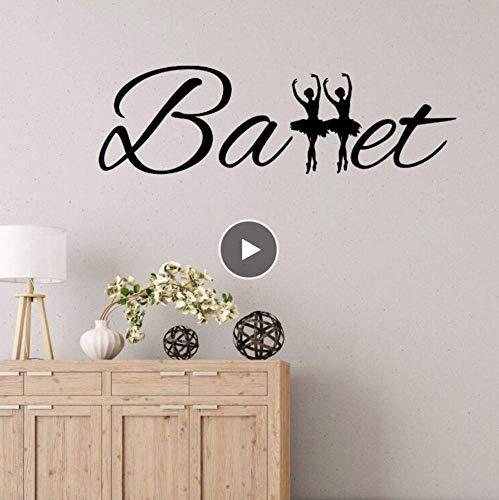 Ballerina S Ballet Meisjes Kamer Muursticker Thuis Kwekerij Decor Verwijderbare Vinyl Ballet Woorden Wallpaper Home Art 42 * 138Cm