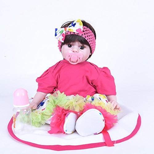 Hongge Reborn Baby Doll,Lebensechte Silikon Reborn Baby Puppe Spielzeug Weißnachten Kindergeburtstag Geschenk 50cm
