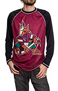 NHL Mens Performance Long-Sleeve Rash Guard (Arizona Coyotes, X-Large)