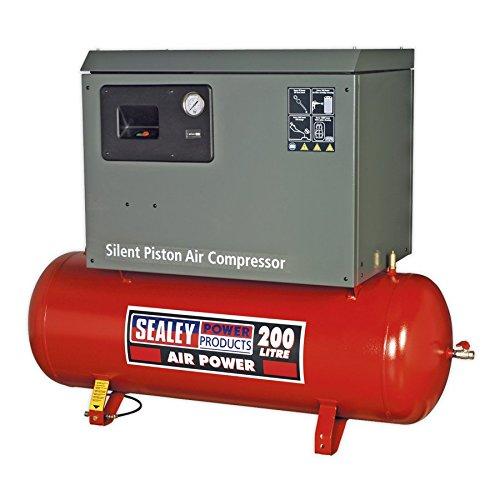 Sealey SAC2203BLN Compressor 200ltr Riem Drive 3 pk met Cast Cilinders Laag Ruis
