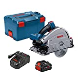 Bosch PROFACTOR GKT18V-20GCL14 18V Cordless 5-1/2 In. Track Saw Kit with BiTurbo Brushless Technology and Plunge Action, Includes (1) CORE18V 8.0 Ah PROFACTOR Performance Battery