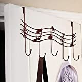 QY&W Ganchos creativos para Colgar Notas Musicales, Ganchos de Pared, Organizador de Cocina, baño, Perchero de Hierro Mental con 5 Ganchos