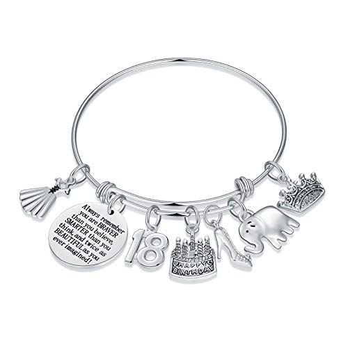 M MOOHAM 18th Birthday Gifts for Girls, Happy 18 Year Old Girl Birthday Present 18 Birthday Gifts Ideas Bracelet for Her Teen Girl 16-18 Granddaughter Niece Sister Daughter in Law Friend BFF