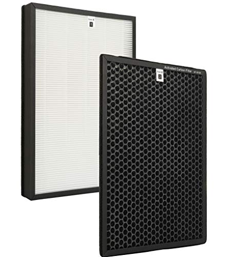 Flintar Premium True HEPA Replacement Filter, Compatible with Alexapure Breeze Air Purifier AP-B102 and 3049 Filter Set, including H13 Grade True HEPA Filter and Activated Carbon Filter