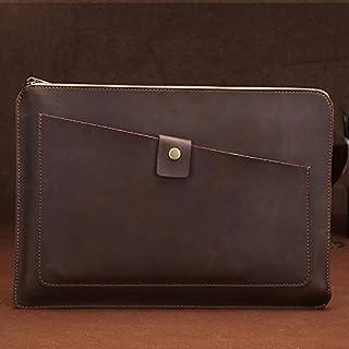 حقيبة كمبيوتر محمول من SHUHAN إكسسوار كمبيوتر محمول من الجلد الأصلي العالمي بسحاب الأعمال ، لـ 12 بوصة وأقل Macbook، Samsu...