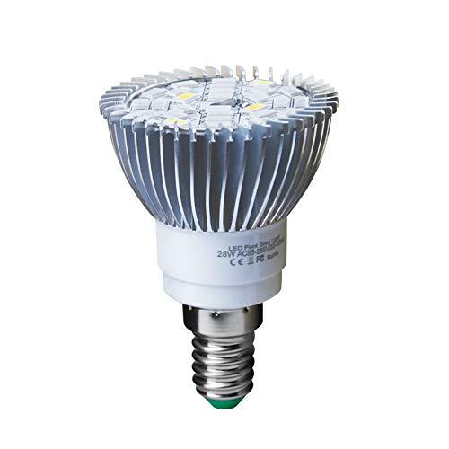 LWJDM LED Pflanzenlampe, Vollspektrum Pflanzenlicht E27 High Power Für Hydroponics Aquarium Zimmerpflanze Hydroponic Vegs Topfblume,28w,GU10