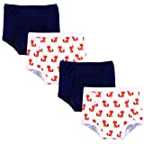Hudson Baby Kids Unisex Baby Cotton Training Pants, Foxes, 2 Toddler