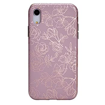 Velvet Caviar Compatible with iPhone XR Case Floral - Cute Protective Phone Cases for Girls & Women  Purple Rose Gold Flowers