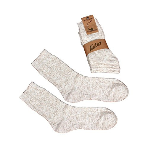 Vital Comfort Socken mit Leinen, 5 Paar Größe 35-38