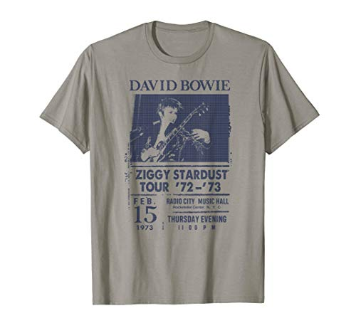 Ziggy Stardust Tour 1972-73 Radio City T-shirt for Men, Women, S to 3XL