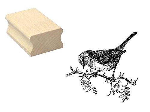 Stempel SPATZ SPERLING - Motivstempel aus Buchenholz