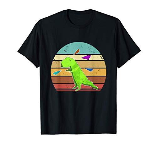 Dinosaurio de origami Oragami Camisa de avión de papel Camiseta